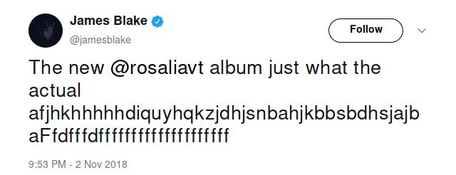 джеймс блейк твиттер росалия